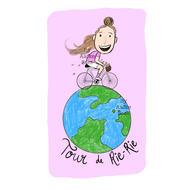 Logo design for Tour de Rie-Rie