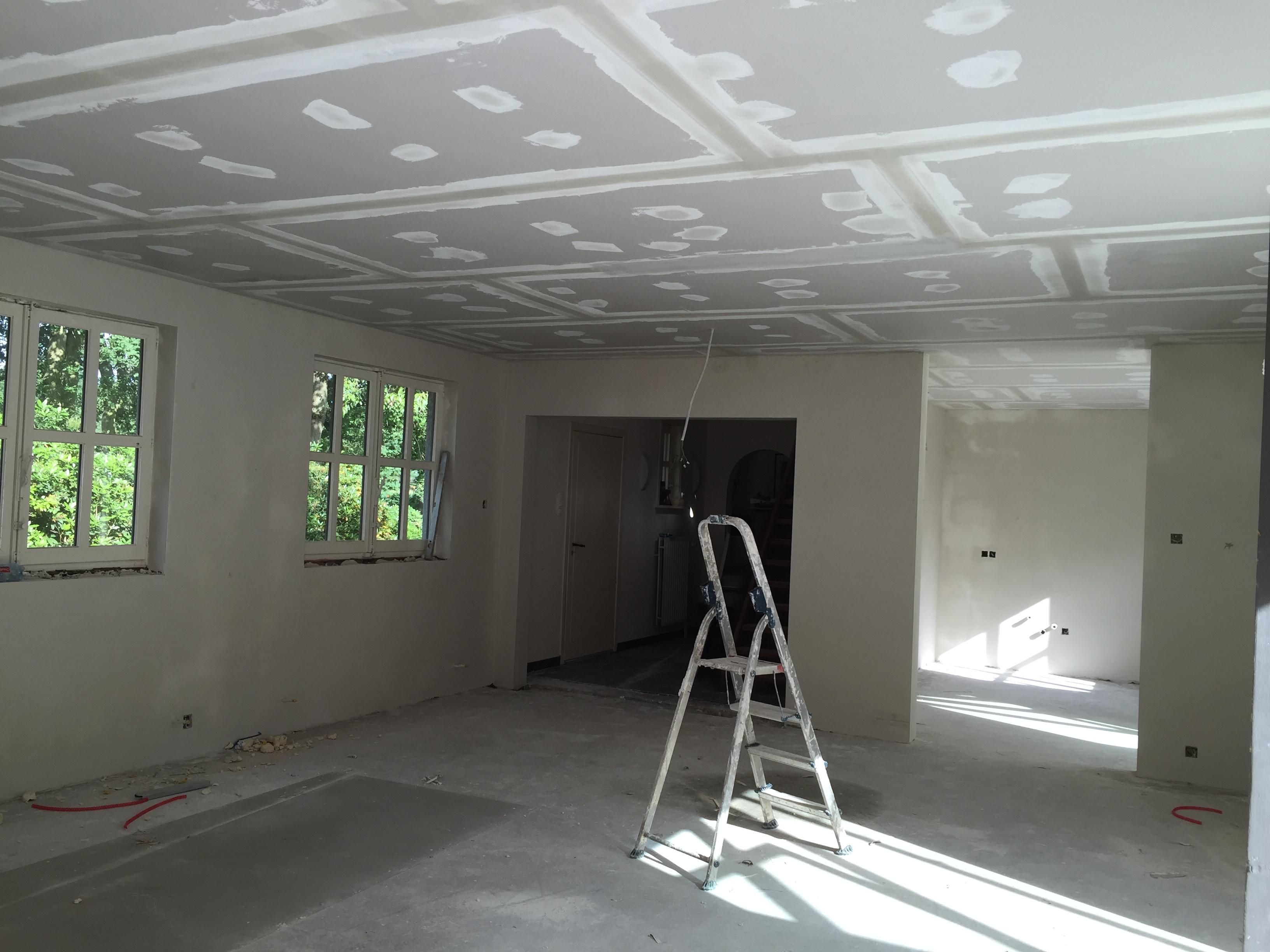 Plaatsen van gyprocplafond