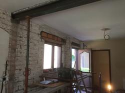 Steken van poutrel tss living-keuken
