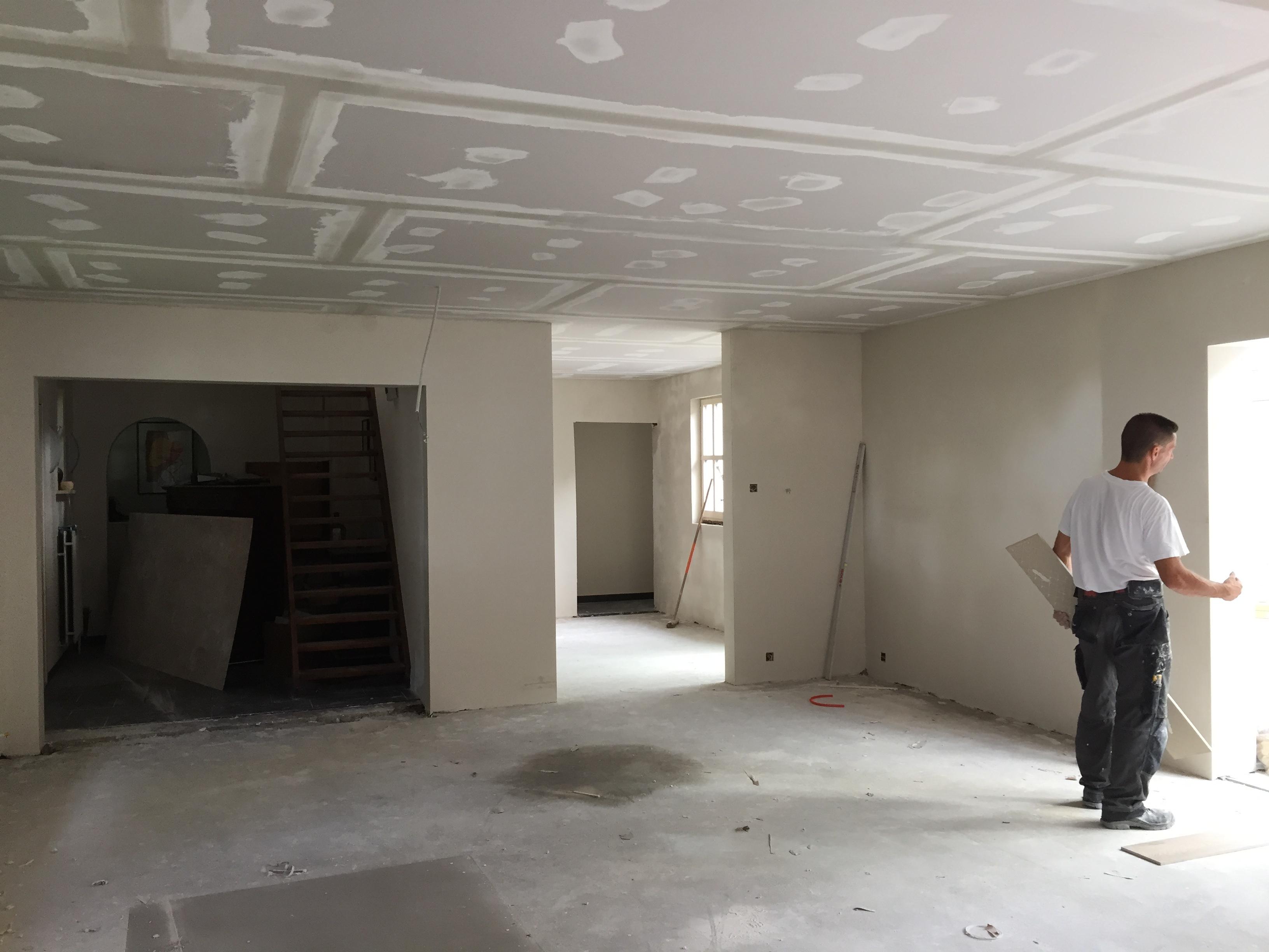Afwerken gyprocplafond