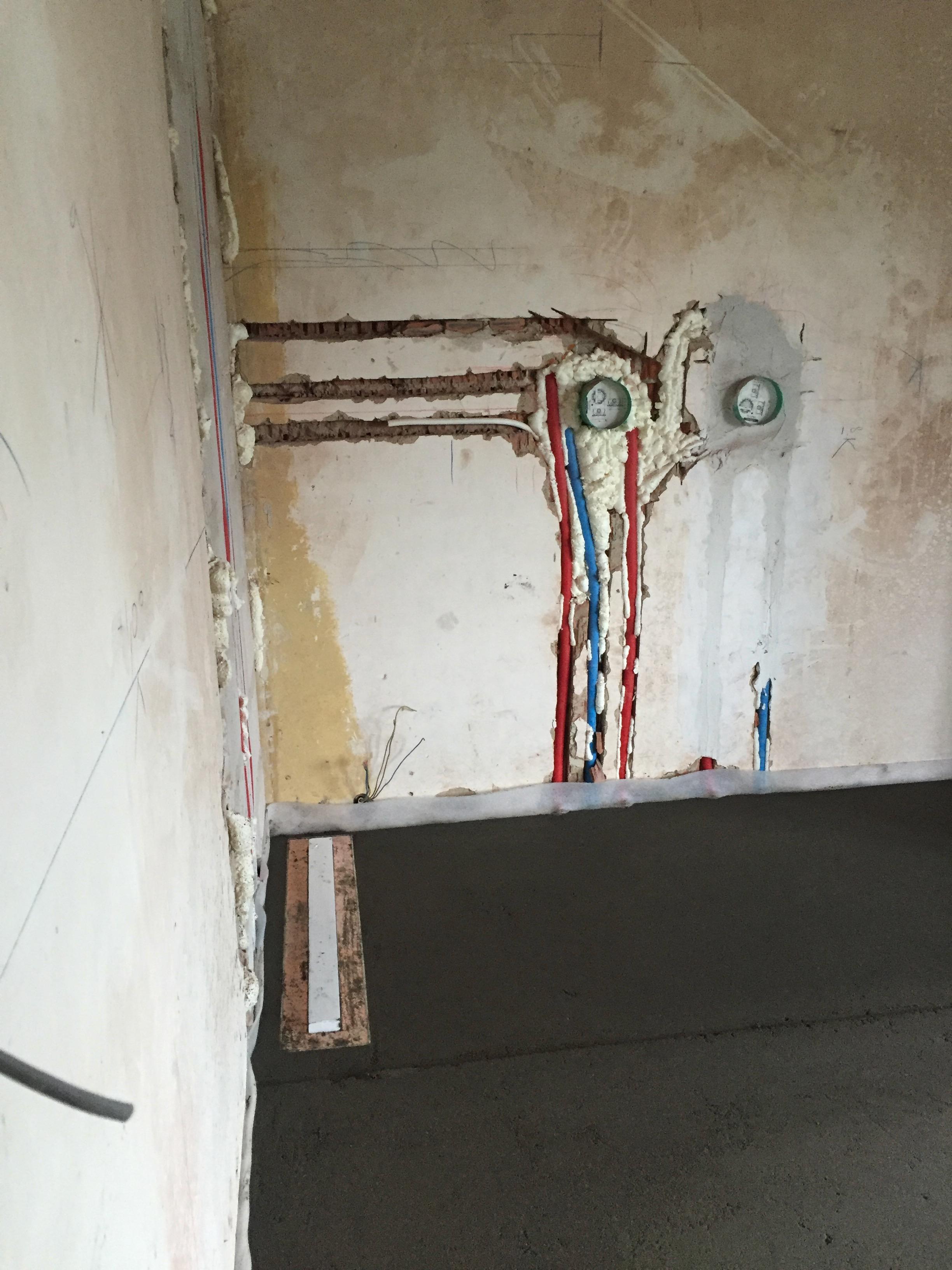 Sanitaire leidingen inloopdouche