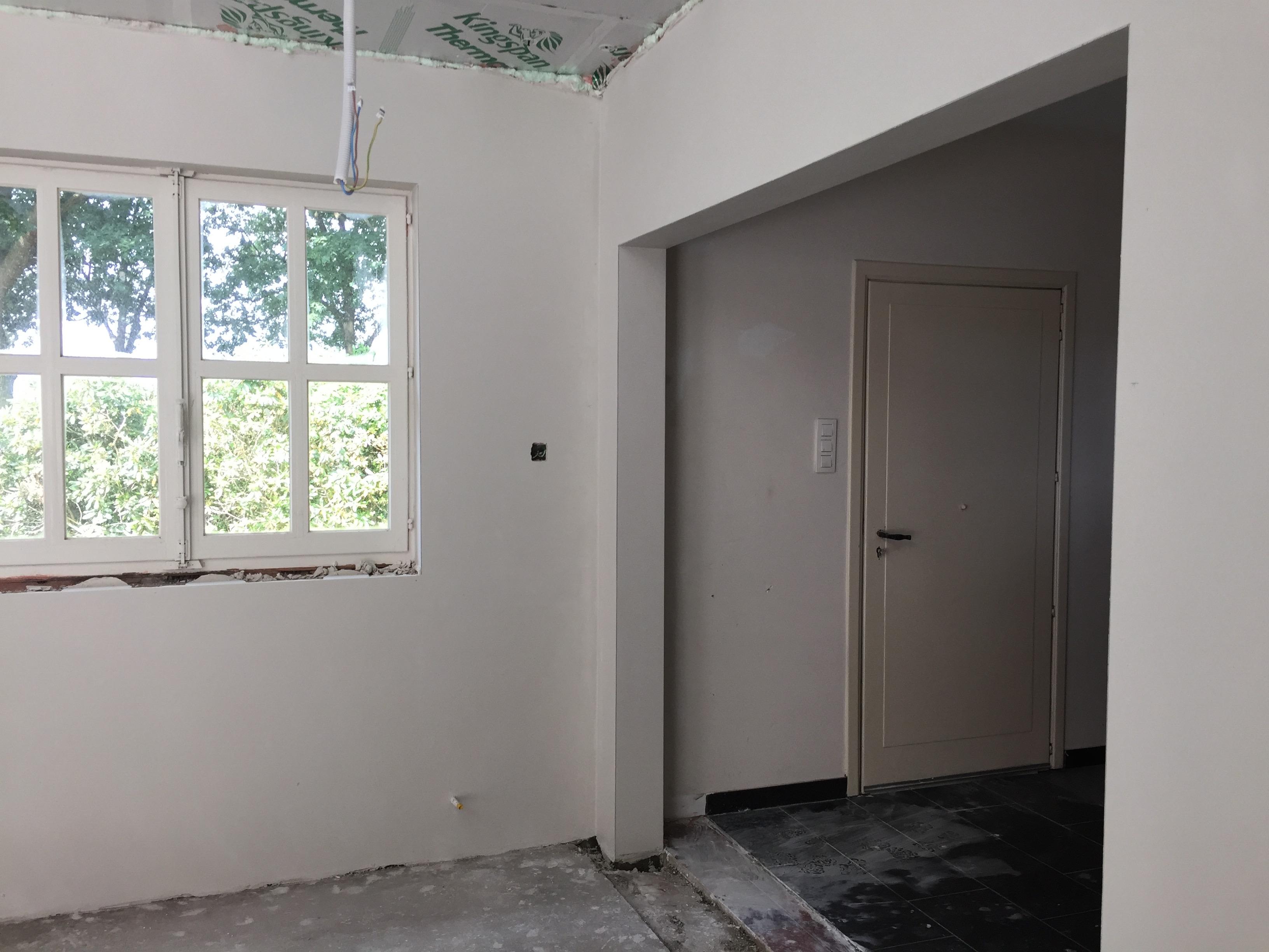 Bezetten deuropening glazen deur