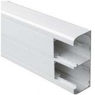 Goulotte 50x130 à clippage direct 2 couv 45mm - L. 2m - Blanc