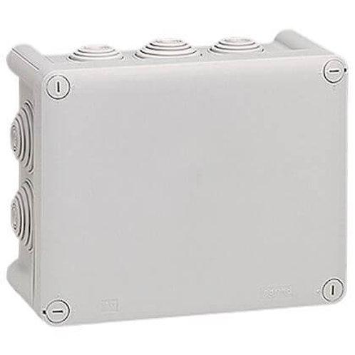 LEGRAND - Bote rect 155x110x74 étanche plexo gris - embout (10) -ip55/ik07- 750°