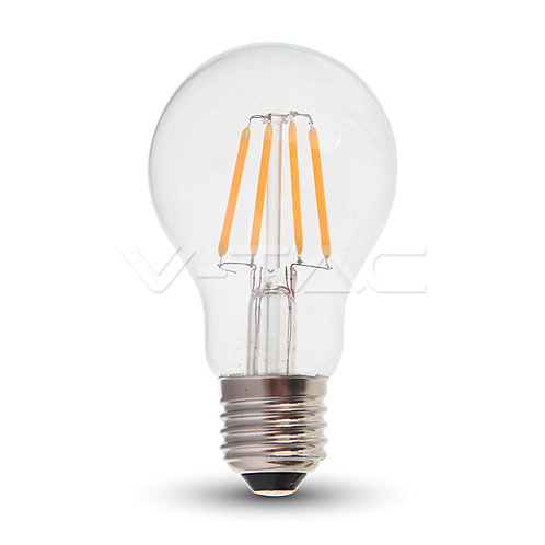 LED Bulb SAMSUNG Chip Filament 6W E27 A60 Amber Cover 2200K