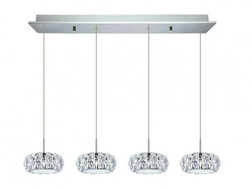 EGLO - LED-HL / 4 chrome / clair / cristal ' CORLIANO '