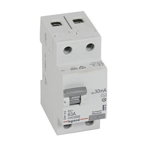 LEGRAND - Interrupteur Différentiel RX3 ID 2P 63A AC 30MA