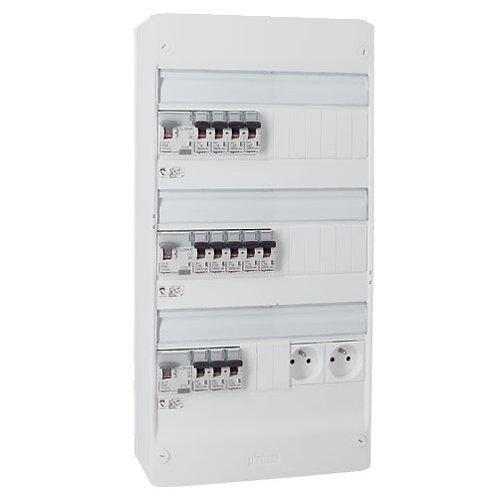 Tableau électrique pré-équipé 3 rangées 13 modules