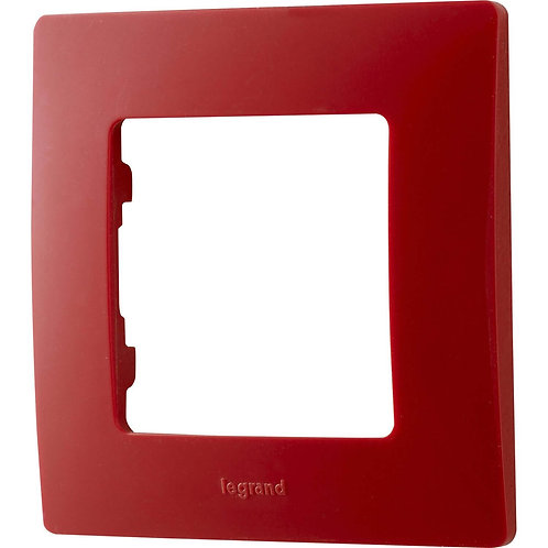 LEGRAND - Plaque simple rouge
