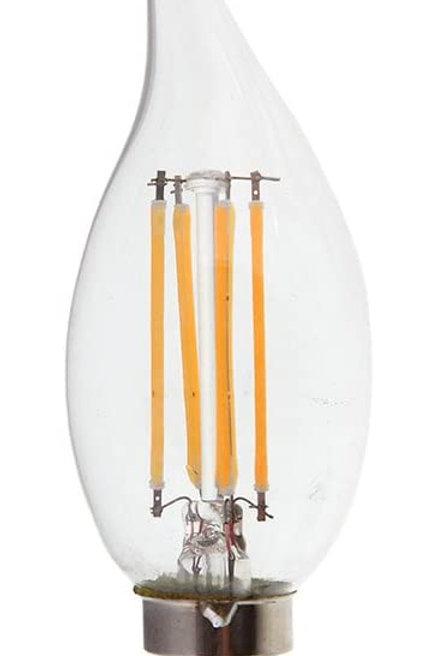 VTAC - Ampoule E14 bougie à filament - WW - LED - 4W