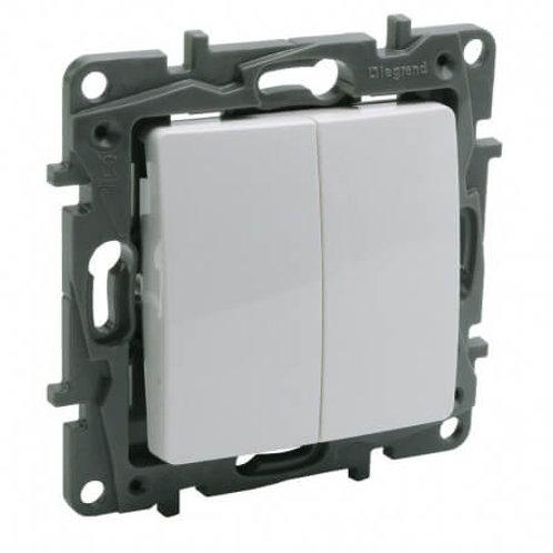 LEGRAND - Double interrupteur - NILOE - 10AX
