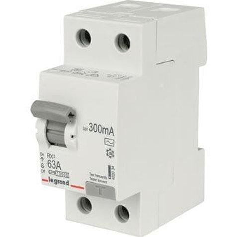 LEGRAND - Interrupteur Différentiel RX3 ID 2P 63A AC 300MA