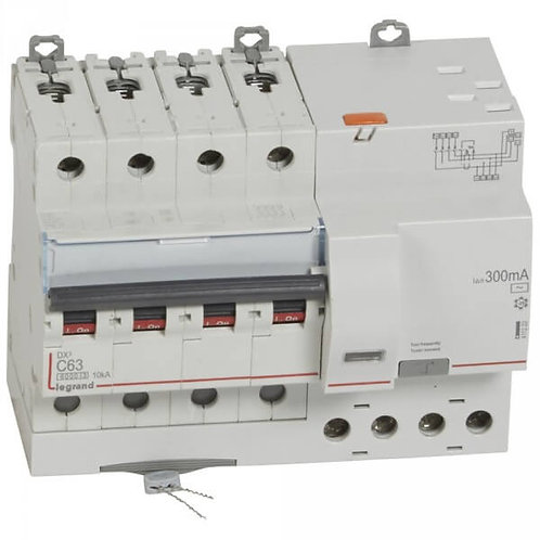 LEGRAND - interrupteur différentiel - 4P C63 6kA - AC 300MA