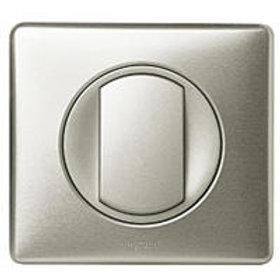 Interrupteur ou va-et-vient avec plaque Céliane Soft - 10 A - Titane