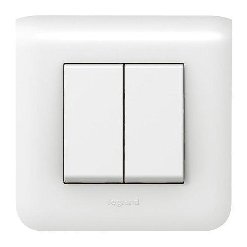Double interrupteur ou va-et-vient avec plaque Mosaic