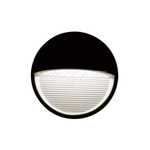 VTAC - VT-1182 3W LED lumière de marche code couleur : 3000K noir corps rond