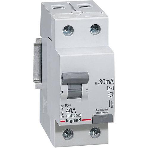 LEGRAND - Interrupteur Différentiel RX3 ID 2P 25A AC 30MA