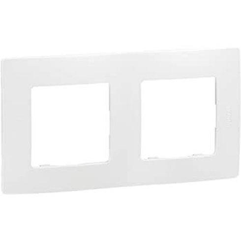 LEGRAND - Plaque double  71 blanc