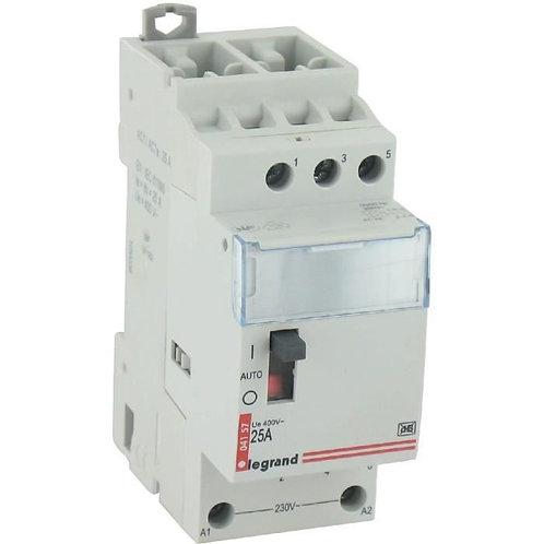 Contacteur Lexic pour tarifs heures creuses 3p 400V 20A 2 modules