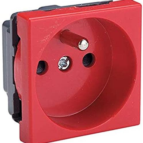 SCHNEIDER - prises 45x45 prise de courant (rouge)