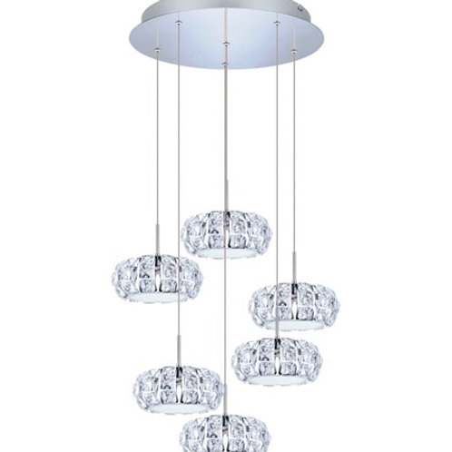EGLO - LED-HL / 6 chrome / incolore / cristal 'CORLIANO'