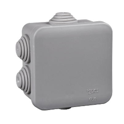 SCHNEIDER - Jonction box square 65x40 gris