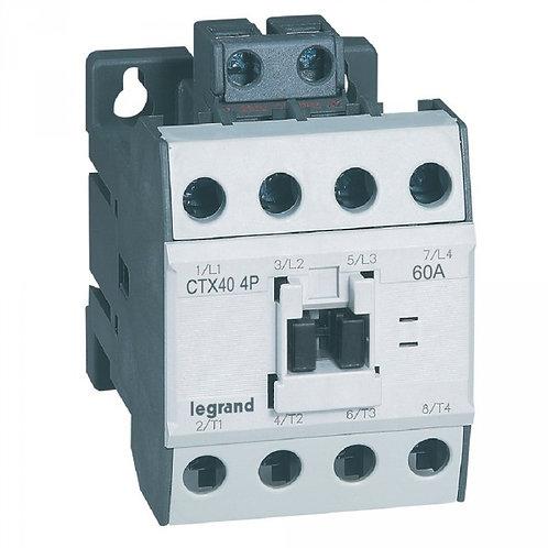 Contacteur de puissance Ctx contacteur 4p 60a ac1 230v ac bornes a vis t11