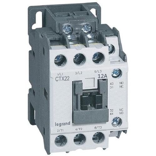 Contacteur de puissance CTX22 12A 1NO+1NC 230V - bornes a vis t2