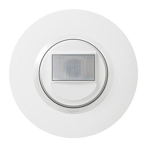 Interrupteur automatique dooxie 2 fils sans Neutre livré avec plaque ronde blanc