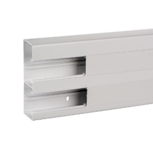 Goulotte d'installation 165X55mm blanche (au_métre) 2 compartiments avec couver