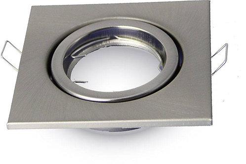 VTAC - Spot GU10 - spot carré - Satin nickel