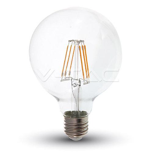 LED Bulb SAMSUNG Chip Filament 6W E27 G95 Clear Cover 2700K