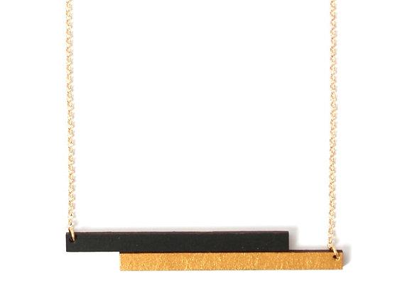 Ketting zwart - goud (EMK 101)