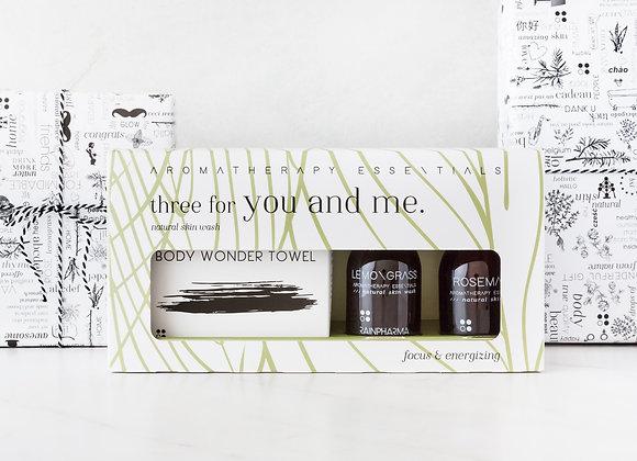 Three for you & me - Focus & energizing Lemongrass/Rosemary