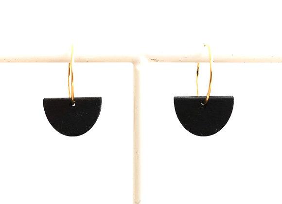 Oorhangers zwart - goud (EMO 801)