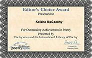 Editor's Choice Award No More Birthdays