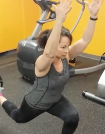 Bulgarian split squat on TRX Good for balance and stabilization while working the legs and the glutes. It allows a good stretch on the hip flexor as well.