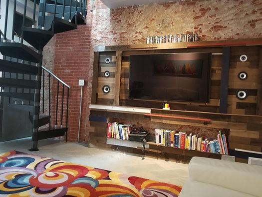 Custom Built TV And Surround Sound Bookcase