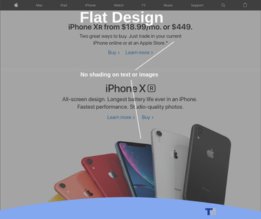 Example of Flat Website Design