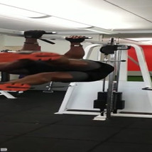 Another very advanced core exercise, targeting the obliques and the core overall.