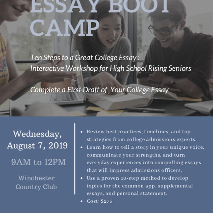 College Essay Boot Camp - virtual dates