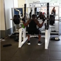 Heavy squat for maximum strength. strength is about good Technic and mind set as well. Very heavy squat (455 lb) with bad knees for the last 15 years.. I am really good with finding a way to safely exercise despite injuries. I guarantee to each client to figure it out if it is possible.