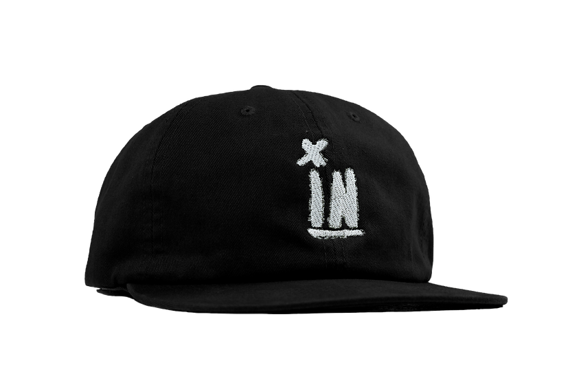 Welsh 6 Panel Hat- Black