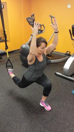 TRX split squat