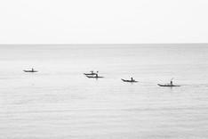 Kayaking Monochrome