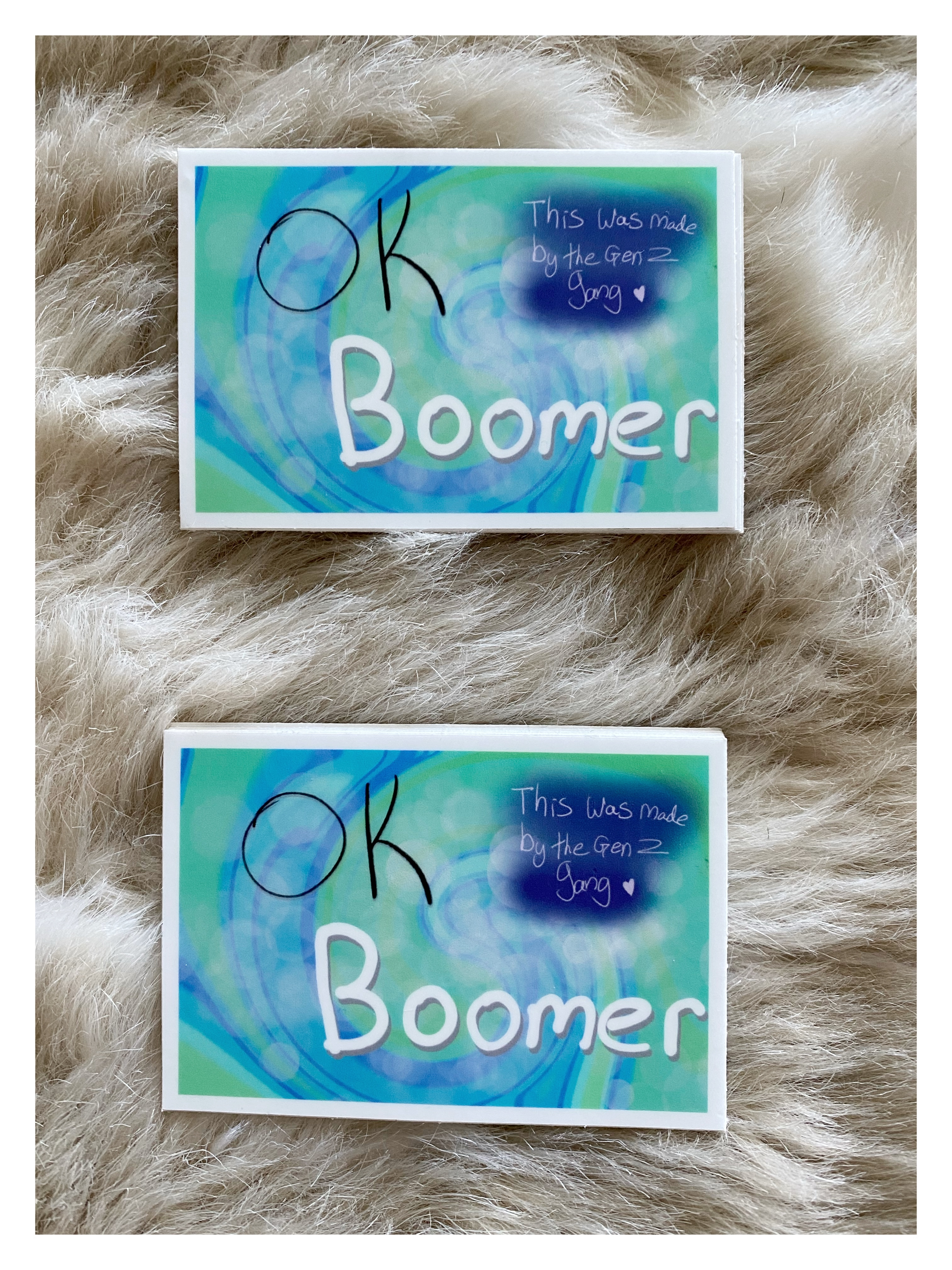 Ok Boomer Rectangle stickers