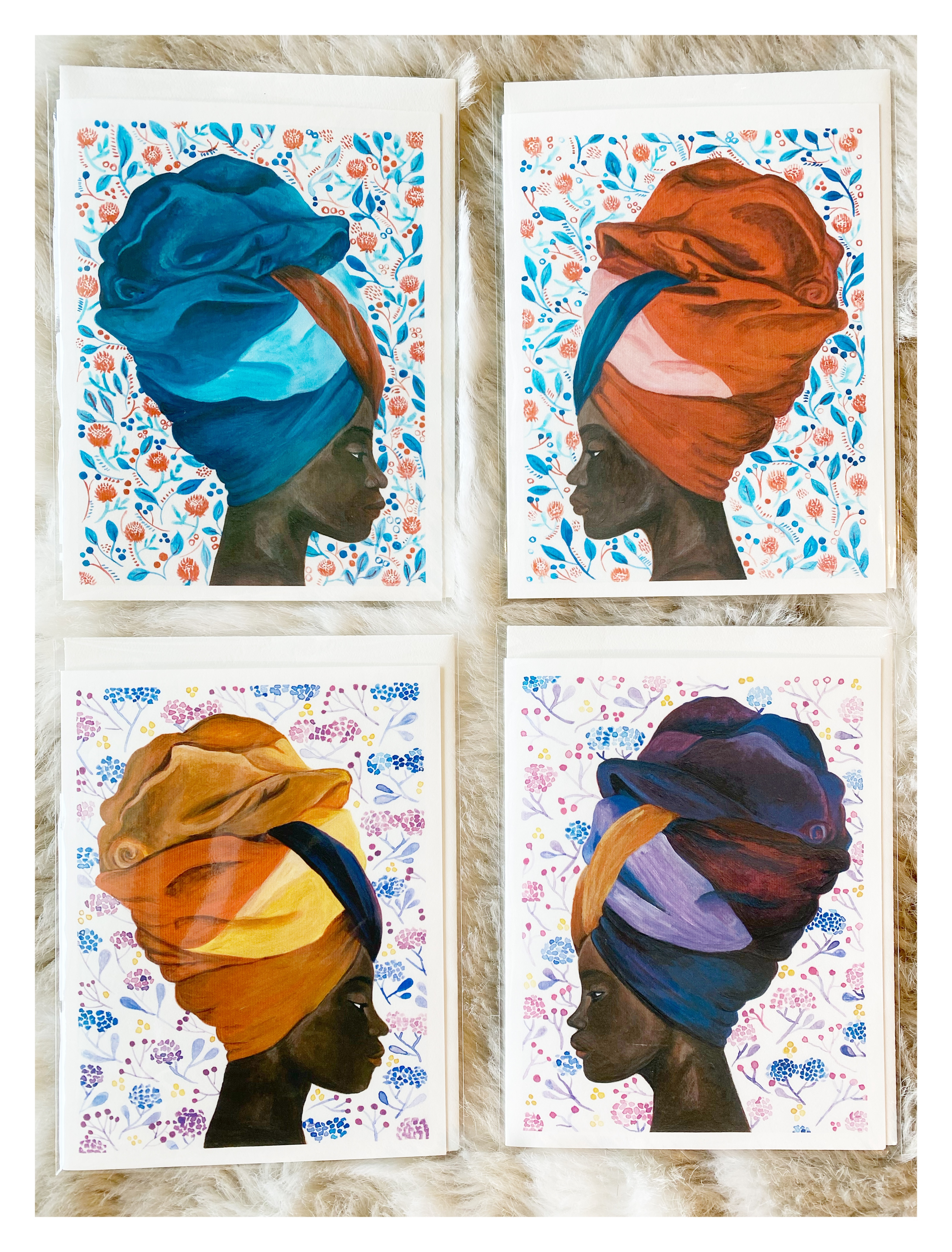 Headdress Cards small