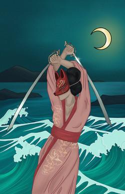 "Ayda Rose - Title: 2 of Swords"" ""Digital Painting"