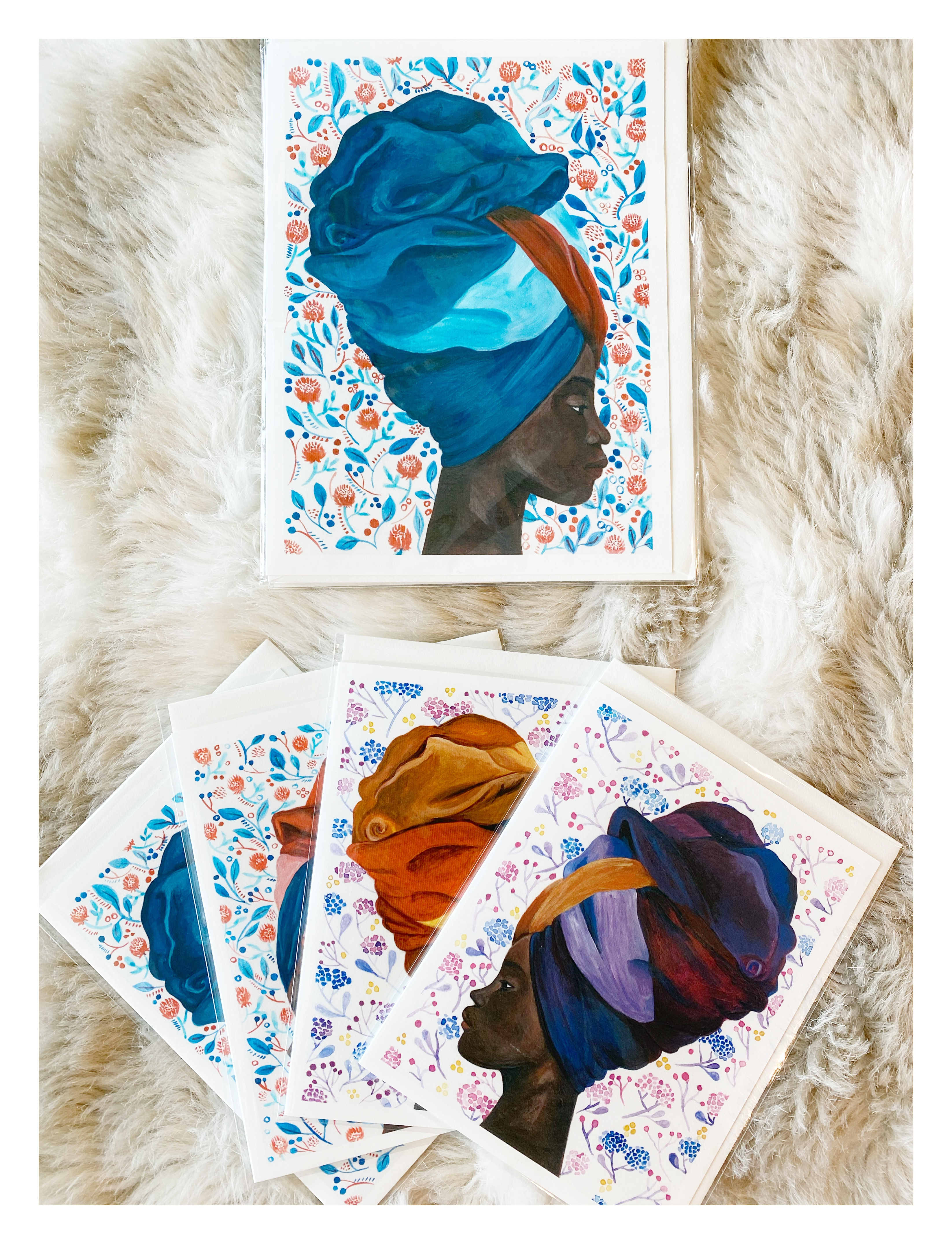 Headdress Women Cards