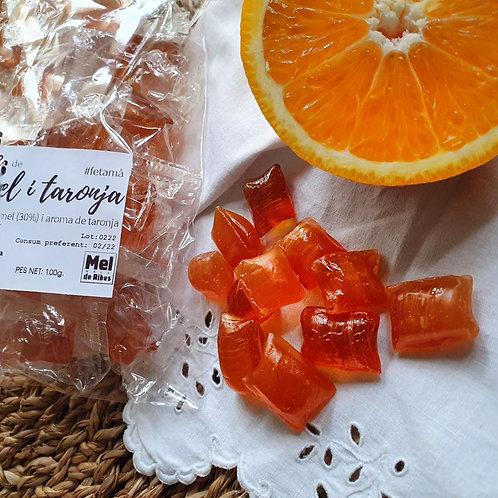 Caramels de mel i taronja
